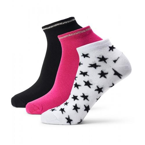Lds Augusta 3-Pairs Socks - Black