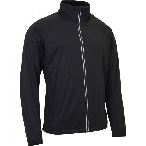Mens Portrush strech wind jacket - Black