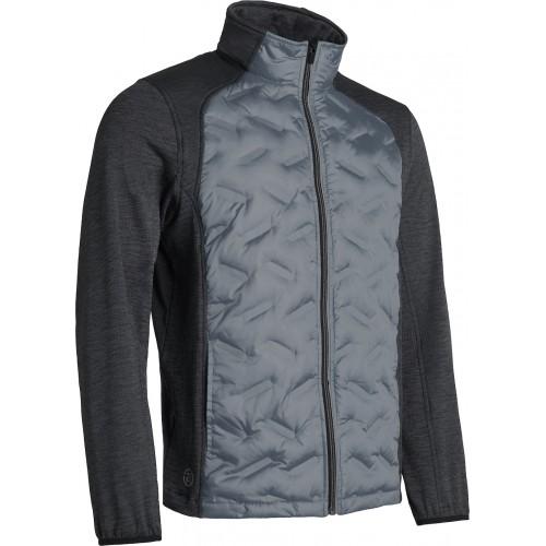 Herra - Dunes Hybrid Jacket - Dökk grá