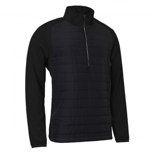 Troon Hybrid 1/2 Zip - Black