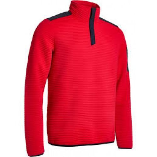 Budock halfzip fleece - Red