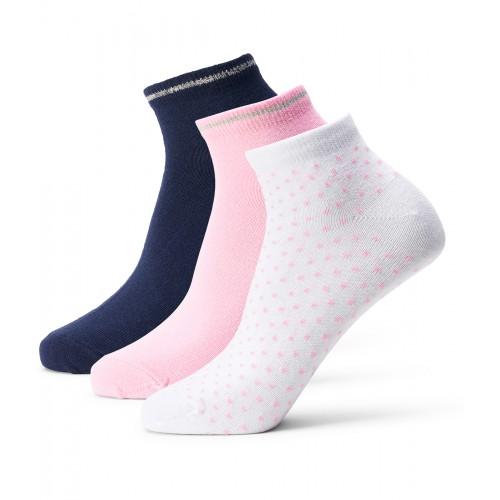 Lds Augusta 3-Pairs Socks - Navy