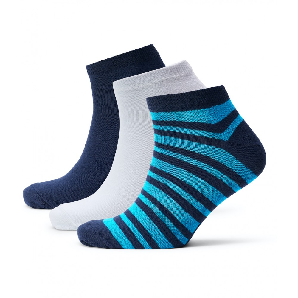 Mens Andrews 3-Pack Socks - Navy