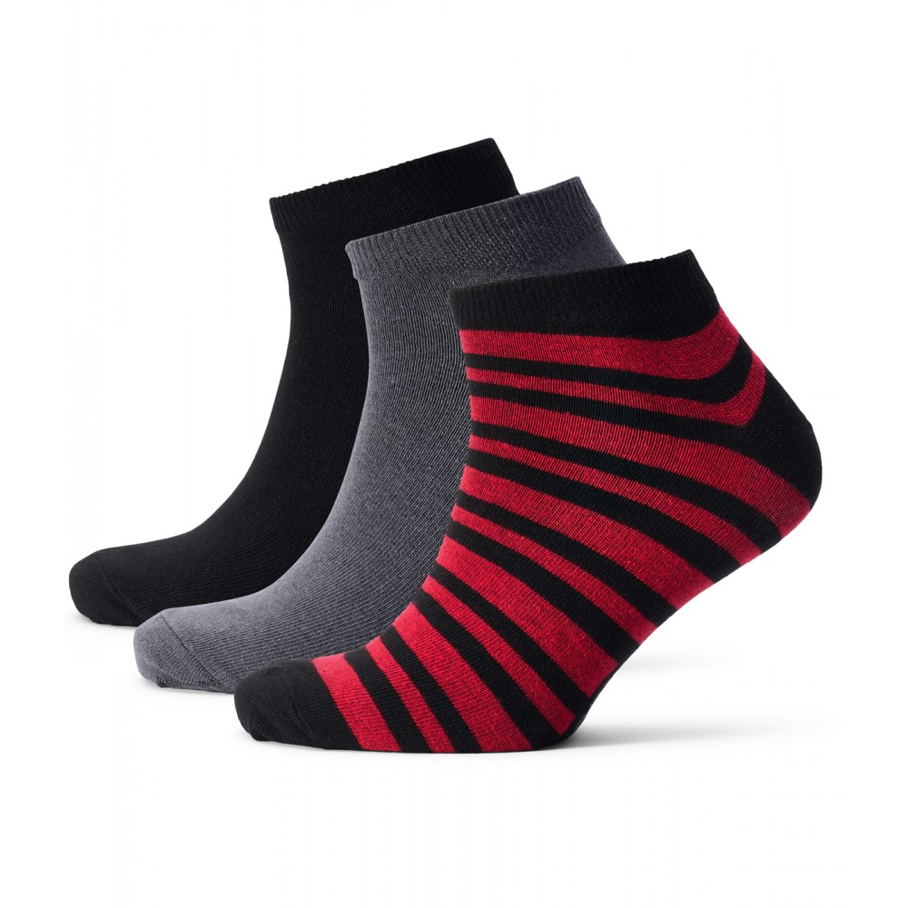 Mens Andrews 3-Pack Socks - Black