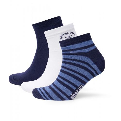 Mens Bandon 3-Pack Socks - Navy