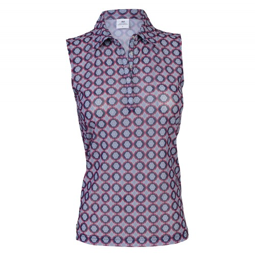 UPPSELT Moa Mesh SL Polo Shirt