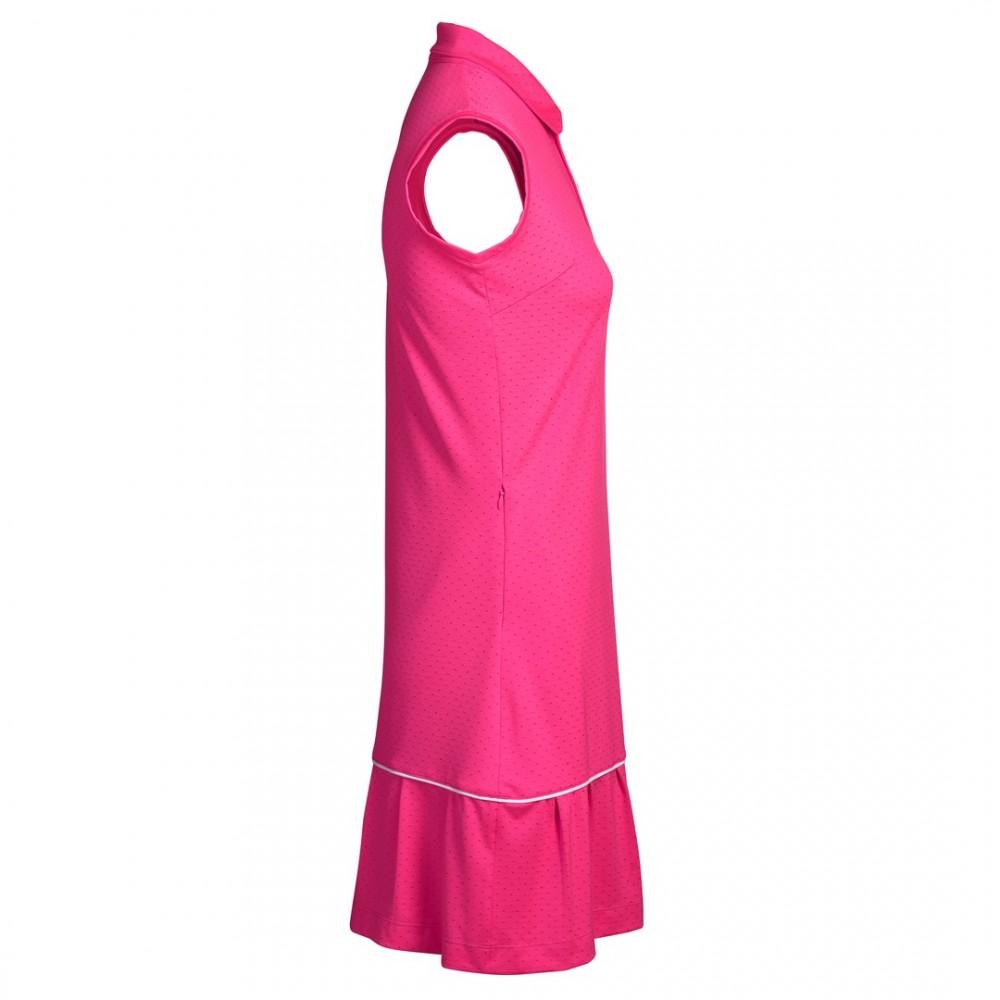 Rita S/L Kjóll - Hot Pink