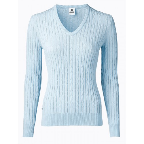 Madelene V-neck Pullover - Light Blue