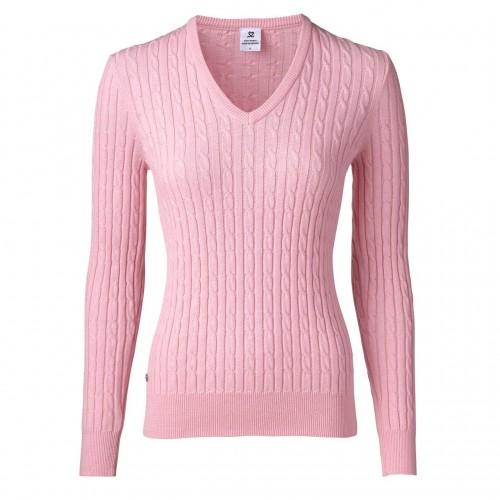Madelene V-neck Pullover - Pink