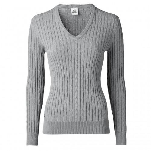 Madelene V-neck Pullover - Grey