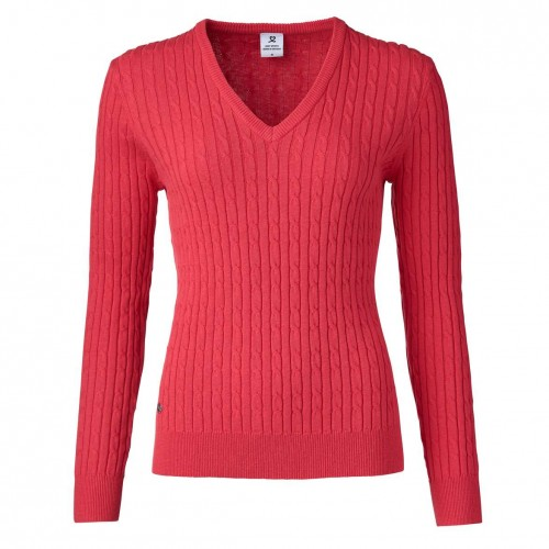 Madelene V-neck Pullover - Sangria