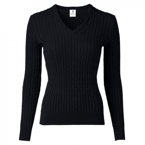 Madelene V-neck Pullover - Black