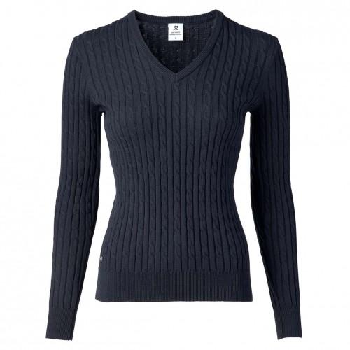 Madelene V-neck Pullover - Navy