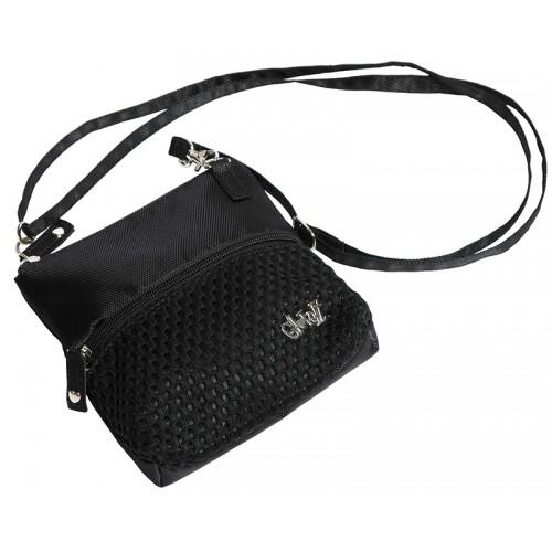 Black Mesh Zip Carry All Bag