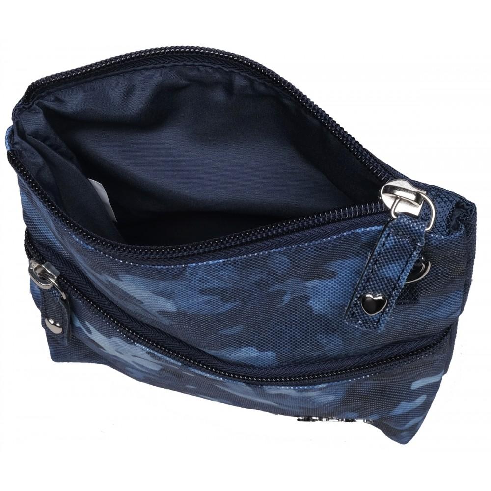Blue Camo Zip Carry All Bag
