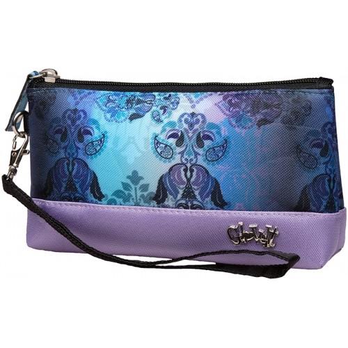 Lilac Paisley Wristlet