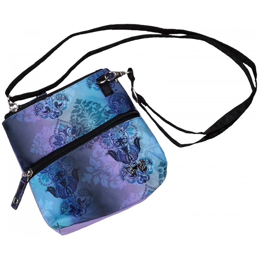 Lilac Paisley Zip Carry All Bag