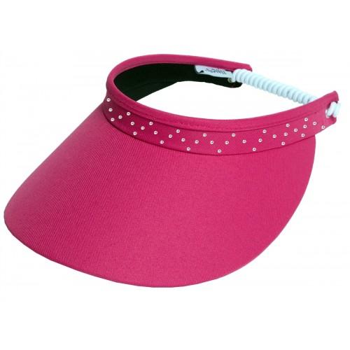 Pink Bling Coil Visor